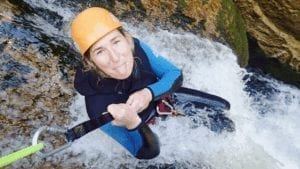 a picture of me canyoning in new zealand with abel tasman canyons