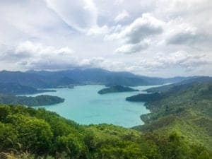 A beautiful photo of Kenepuru Sound filled with lots of awesome accomodation options
