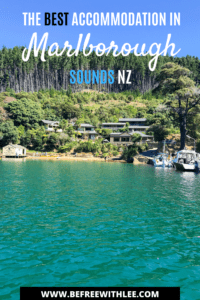 pinterest image of this article on accommodation in marlborough sounds
