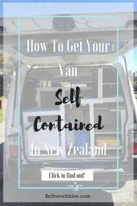 how to get your van self contained in NZ