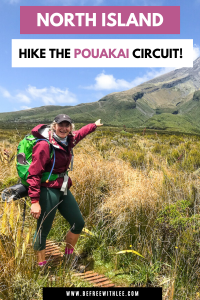 Another pinterest image of this article on the pouakai circuit