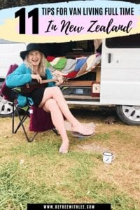 Another pinterest image to save about this van living full time article