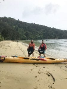 kayaking in abel tasman with my friends!