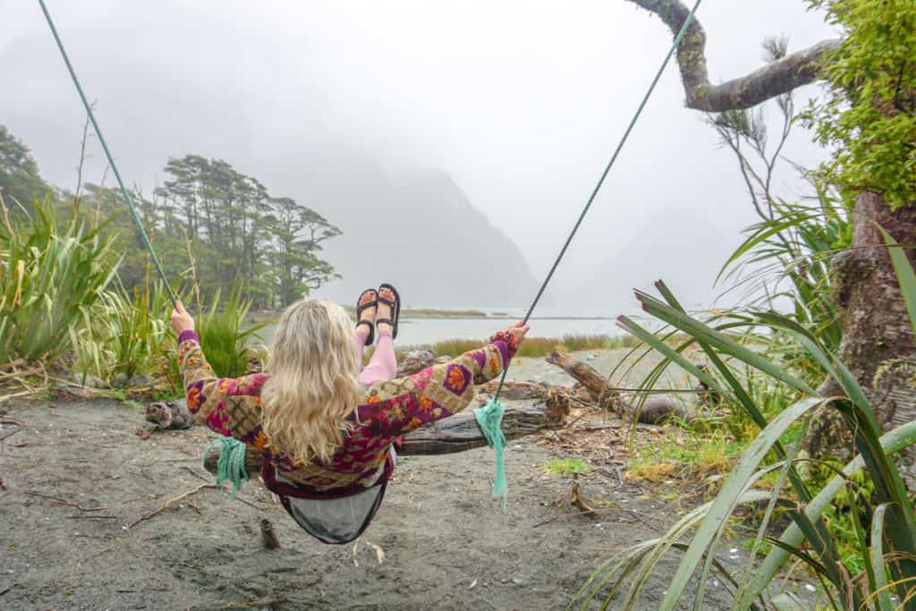 The milford swing is an awesome place to stop at the end of the road from Queenstown to Milford Sound