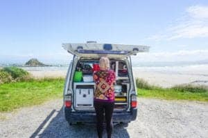 A stunning photo of me van living full time down in Invercargill a must stop on your South Island road trip!