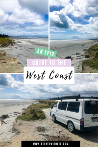 a pinterest image of this article on the west coast south island