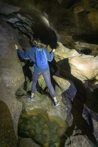 a photo of alice in cliften caves one of the most underrated things to do in southland