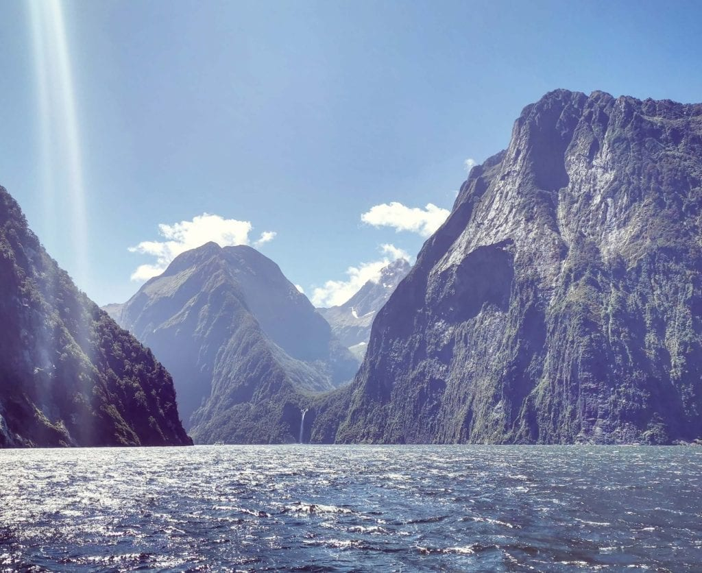 a photo of milford sound. Travelling to Milford sound is one of the best things to do in Southland