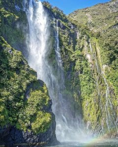 a stunning photo of a milford sound waterfall one of the best things to do in Southland