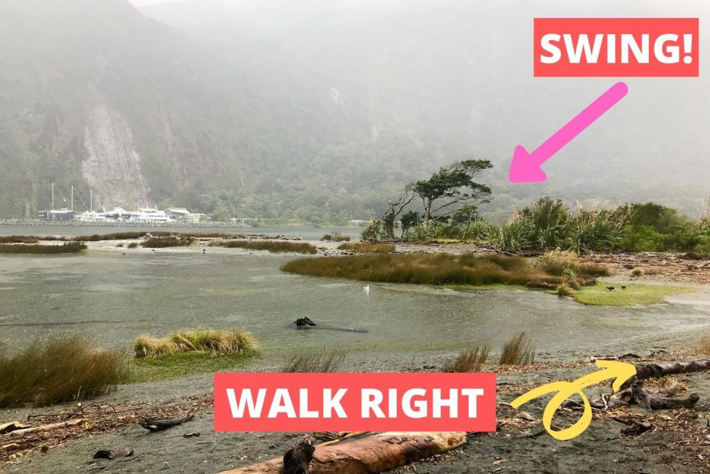 instructions on how to get to milford sound swing from the foreshore walk
