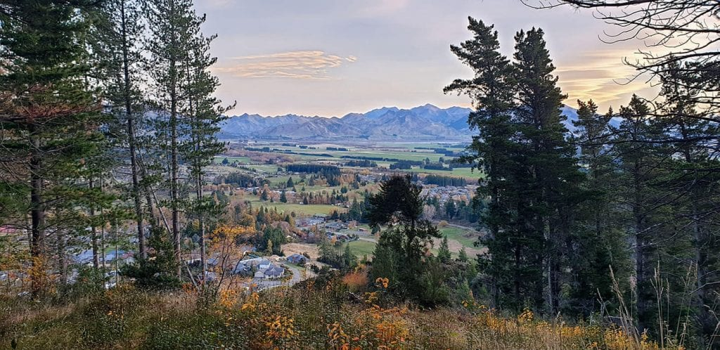 a view from conical hill which is one of the most popular things to do in hanmer springs