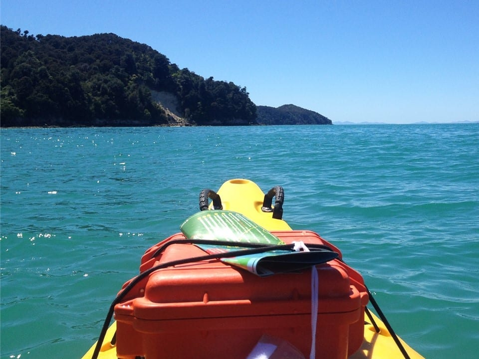 one of the best places to travel new zealand in a campervan is Nelson. this photo was taken at the abel tasman national park about 1 hours drive north.