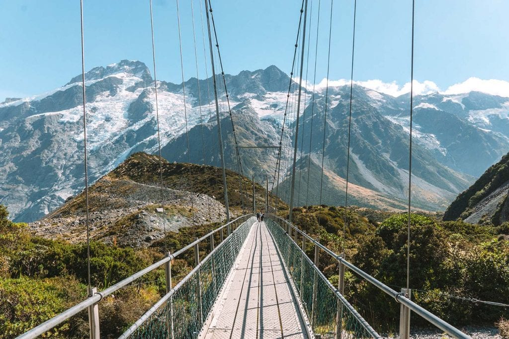 mount cook is a stunning destination to add to your list while travelling new zealand in a campervan! This photo is taken from the hooker valley walk.