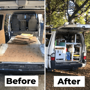 before and after photos building a van
