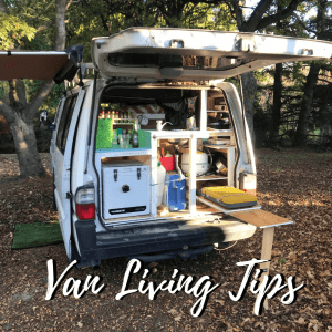 This campervan guide article has a bunch of van living tips to read!