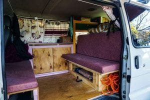 when building a van its important to think about the bed this is a photo of my rock and roll bed