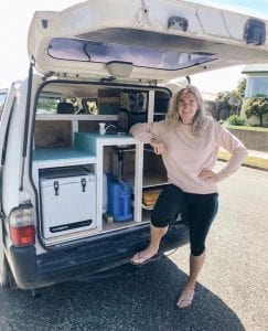 a photo of me building a van with a nissan vanette