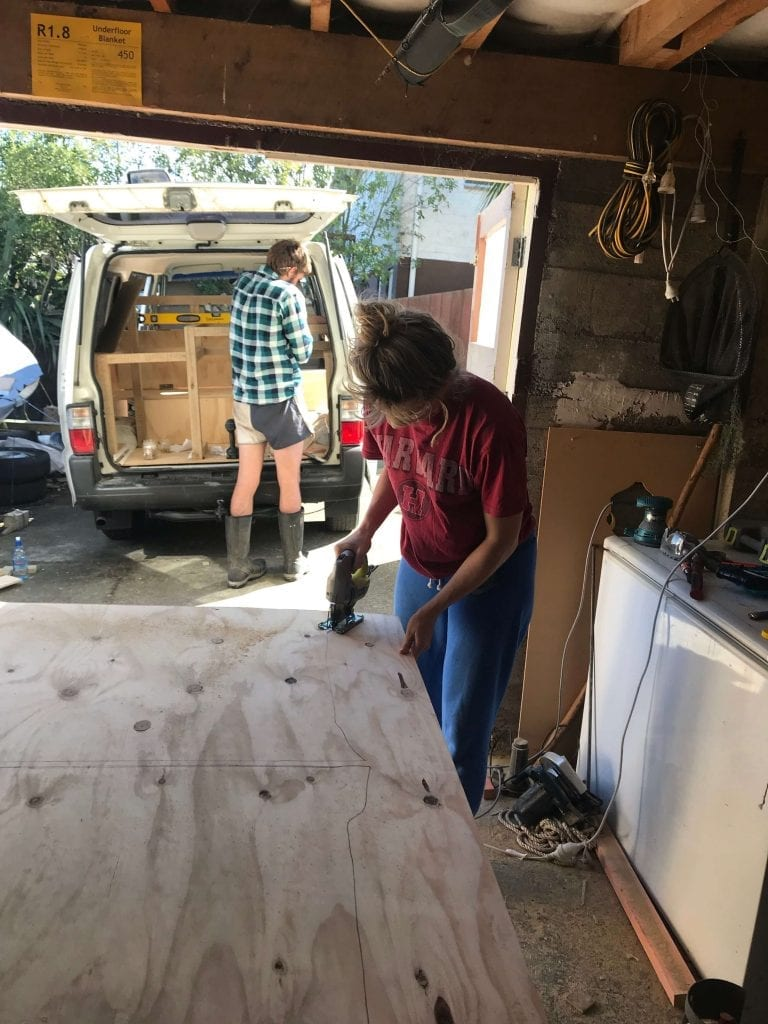 me building a van bench