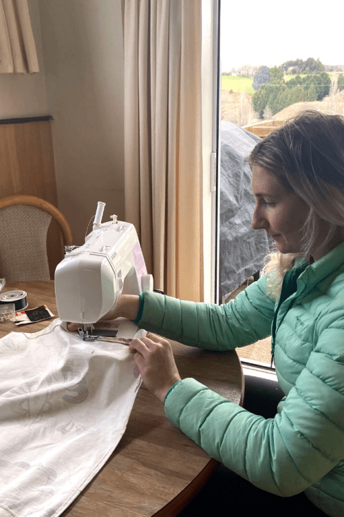 How to make DIY camper curtains on a budget