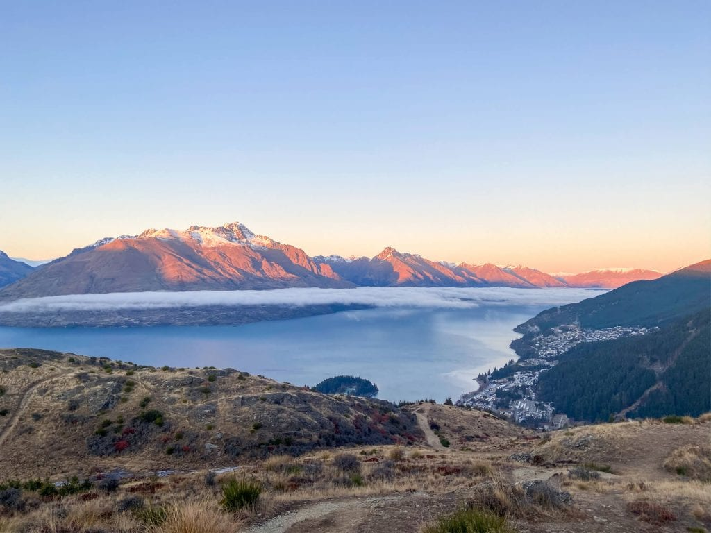 View from the Queenstown hill walk one of the best things to do in Queenstown