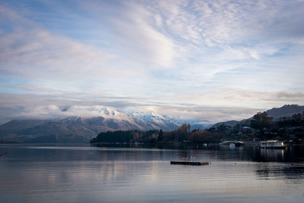 one of the best free things to do in wanaka is the waterfront this is a photo of it!